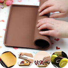 Non-stick Pastry Oven Rolling Tray Swiss Roll Mat Baking Sheet Bakeware Cake Pad
