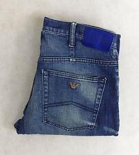 Indigo, Dark wash Mid Rise Regular Jeans ARMANI for Men