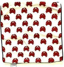 Nautical Throw Decorative Pillow Cover Crab Red White Blue 18x18 Beach