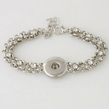 Bracelet Magnolia Vine Jewelry 18mm Button Fits Ginger Snap Ginger Snaps Silver