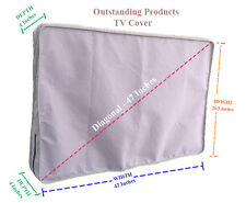 Weather Resistant Lined Protective Outdoor TV Cover For LG 43LH5700 LED TV Gray