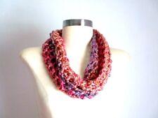 Single Loop Cowl Infinity Scarf Cowl Small Spring Summer Scarf Handmade Crochet