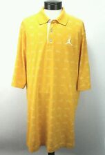 NIKE Men's JORDAN Polo Shirt AJ Retro Yellow Shoe Print AIR JORDAN Size 3XL