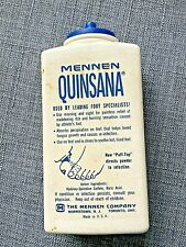 Vintage 1960s Mennen Quinsana Foot Powder  Athletes Foot, Used, Some Left