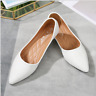 Womens Pointed Toe Flats Fashion Brogue Faux Leather Casual Soft Non-slip Shoes