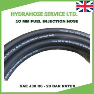 10mm ID FUEL HOSE SAE J30 R6 3/8 FUEL INJECTION Rubber Pipe Nitrile NBR Tube