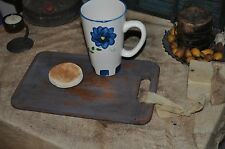 Vintage Worn Dough Board/Serving Primitive Board/Candle Setter Robins Egg Blue