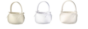Ivory, White or Off White Flower Basket Flower Girl Basket wedding basket