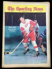 2-22-69 The Sporting News with Detroit Red Wings Gordie Howe on the Cover Hockey