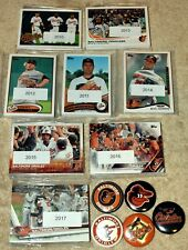 Baltimore ORIOLES lot of 9 Topps team sets 2018,2017,2016,2015,2014,2013-2010