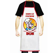 Tablier de cuisine homme personnalisé prénom humoristique cadeau réf 03