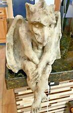 vtg Dragon Gargoyle Sitting Statue - Hand Crafted R. Shipman