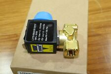 "Asco Sirai 1/8"" Brass Direct Acting 2-Way Solenoid Valve 120v AC B12A DIN Coil"