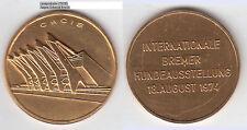 Bremen Int. Hundesausst. 1974 Medaille undedel Stadthalle ca. 41 mm ca. 27,59 g