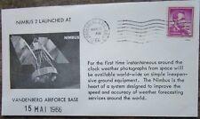 Enveloppe conquête spatiale américaine 15 05 1966, Vandenberg A.F.B. NIMBUS 2