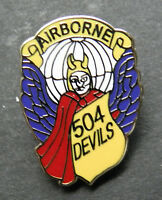 504th AIRBORNE INFANTRY REGIMENT 504 DEVILS US ARMY LAPEL PIN BADGE 1 INCH