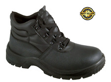 Chukka Safety Work Boots Leather Steel Toe Cap & Midsole Mens Cheap Size 8 shoes