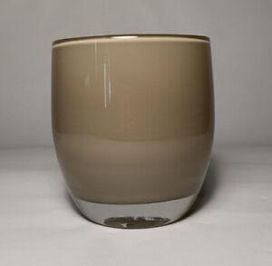 Glassybaby Mocha Brown Glass Votive Candle Holder Hand Blown Purrr