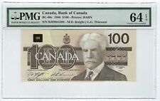 Canada $100 Dollars  1988 BC-60c PMG GEM UNC 64 EPQ BJI Changeover