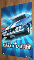 1999 Driver (video game) very rare double sided  Poster 82x57cm