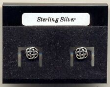 Celtic Circle Sterling Silver 925 Studs Earrings Carded