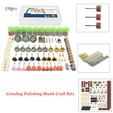 350 Piece Rotary Tool Accessories Kit Grinding Polishing Shank Craft Home Bits