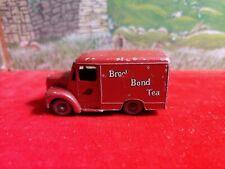 VINTAGE LESNEY MATCHBOX 1 Ton Trojan Van Gray WHEELS No. 47 Brooke Bond Tea Used