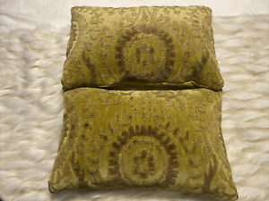 Front Gate String theory pillows 22 X 14 sage Damask tone on tone matching pair
