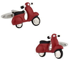 Red Vespa Scooter Cufflinks Direct from Cuff-Daddy