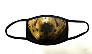 Jason Voorhees style face mask. Double Layered with removable washable filter