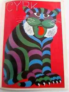 Hubert Hilscher Polish Pop Artist Cyrk Poster  Portrait of a Lion PP 16x11