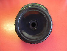 NEW SET OF 4 1/8 SCALE BUGGY WHEELS AND TIRES 17mm HEX HURRICANE BLACK M1048