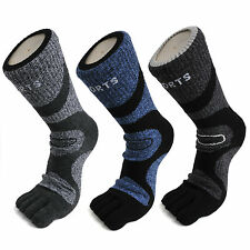 5 Pairs Men's Breathable Comfortable Compression Comfort 5 Finger Toe Socks