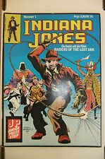 2.5 GD+ FURTHER ADVENTURES OF INDIANA JONES # 1 DUTCH EURO VARIANT RRP SDCC 1983