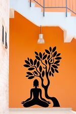 Wall Stickers Vinyl Decal Buddha Buddhism Tree Branch India  (z2054)