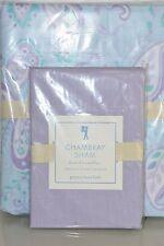 NEW Pottery Barn Kids GIRL 2 PSC KRISTEN TWIN Duvet Cover & CHAMBRAY Sham Purple