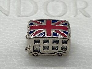 New Authentic Pandora Charm London Bus Bead Enamel #791049ER