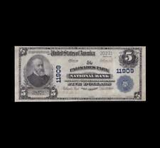 1902 $5 NATIONAL CURRENCY PALISADES PARK, N.J. VERY FINE