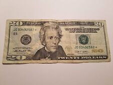 USA 2009 $20 Twenty Dollars JE 03492582* Star Bank Note FRB Richmond VA