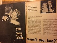 Lana Turner, Two Page Vintage Clipping