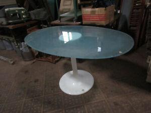 60/70er Vintage Tisch Glastisch Kunststoff Mid-Century Glass Table ähnl. Sitzei
