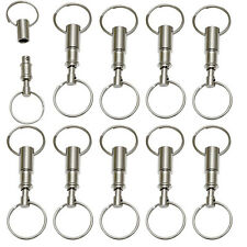 LOT 10 Detachable Pull Apart Quick Release Keychain Key Rings USA Free Shipping