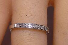 Super 10K Solid Gold Diamond Ring Wedding Band Prong Set 15 Diamonds Estate