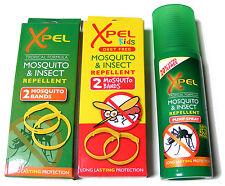 2 x Erwachsene & 2 Kinder Moskito Handgelenk Bänder & 120ml Mückenschutz Spray
