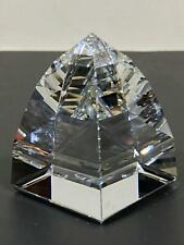 Swarovski Faceted Crystal Prism Obelisk Pyramid Art Figurine Paperweight