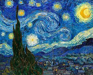 Vincent van Gogh, Starry Night 1889, Stary Night Giclee Art Print / Canvas Print