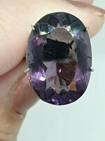 Amethyst Large 11.70TCW  Oval Radiant Faceted Cut Natural Gemstone