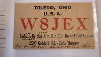 OLD VINTAGE QSL HAM RADIO CARD POSTCARD, TOLEDO OHIO 1959 1