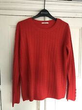 Womens Red ASOS Cable Knit Jumper Size 12 Perfect Condition