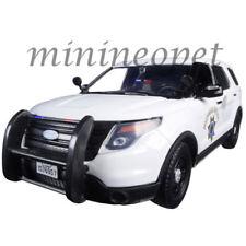 MOTORMAX 76957 2015 FORD INTERCEPTOR UTILITY 1/24 HIGHWAY POLICE CAR CHP WHITE
